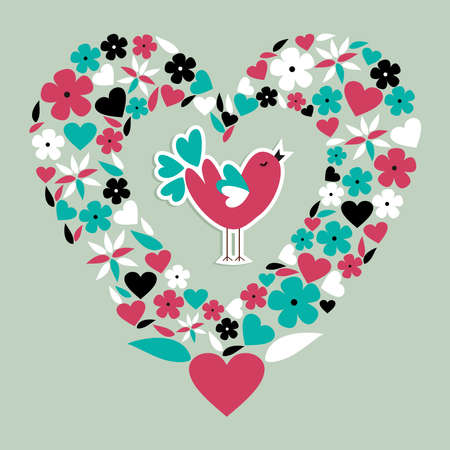 Love bird concept illustration background   Vector