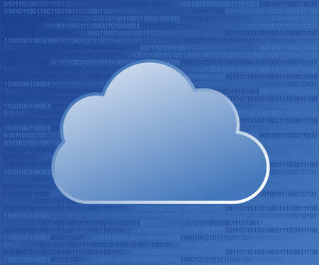 Cloud computing on binary code numbers background Stock Vector - 14311066