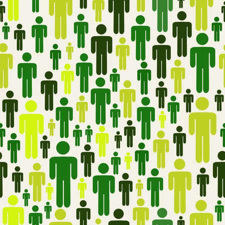 sociología: Verde sociales negocio de los medios la gente patrón de conexión a través de archivos en segundo plano disponible en blanco en capas para la manipulación fácil y personalizada para colorear Vectores