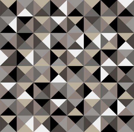 triangle shape: Abstract geometric vintage seamless pattern background  Illustration