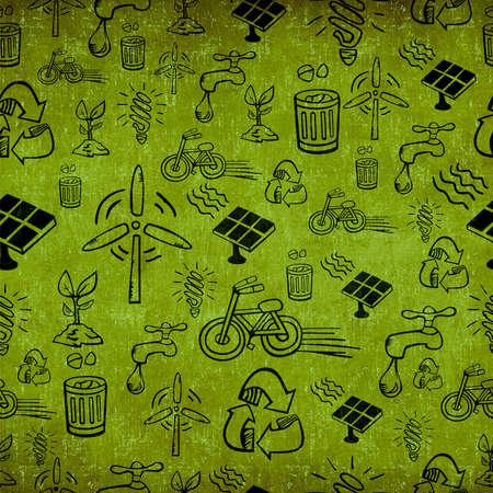 Vintage alternative energy seamless pattern  photo
