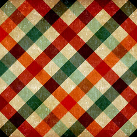 Retro checkered tablecloth seamless pattern background  Stock Photo - 14598088