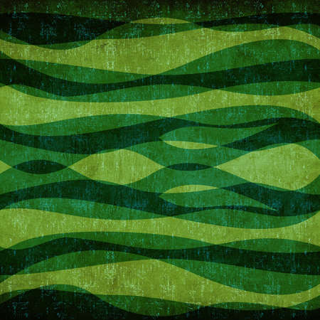 Abstract green waves vintage background