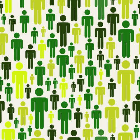 sociologia: Verde social de las personas de negocios de medios de conexión patrón. Archivo vectorial en capas para la manipulación fácil y colorante de encargo.