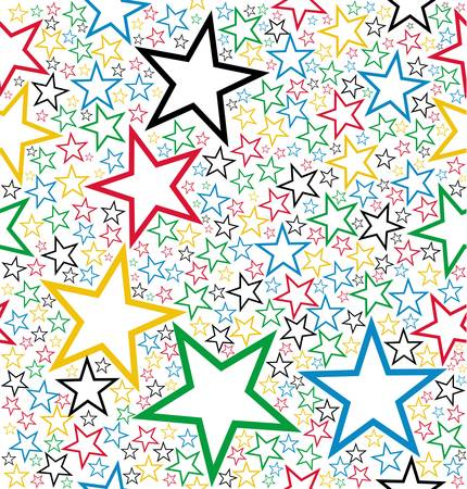 customisation: Multicolored stars seamless pattern background. Vector file layered for easy manipulation and customisation. Illustration