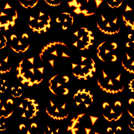 Halloween horror symbols seamless pattern background. Vector file layered for easy manipulation and custom coloring. Vector