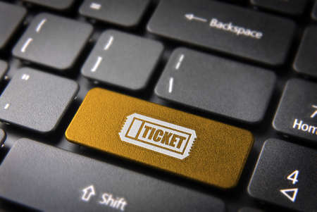 service entrance: Buy entrance online key with ticket icon on laptop keyboard  Included , so you can easily edit it