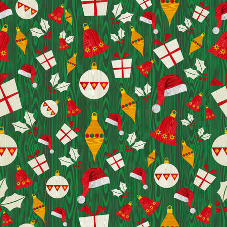 Christmas icons shape seamless pattern background  Stock Vector - 15355299