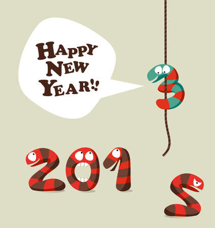 New 2013 year greeting card background.  illustration layered for easy manipulation and custom coloring. Vector