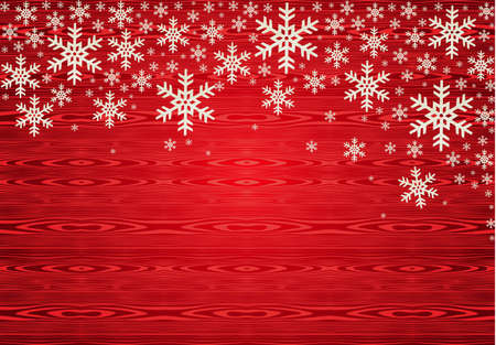 happy holidays text: Red Christmas snowflakes background.  illustration layered for easy manipulation and custom coloring.