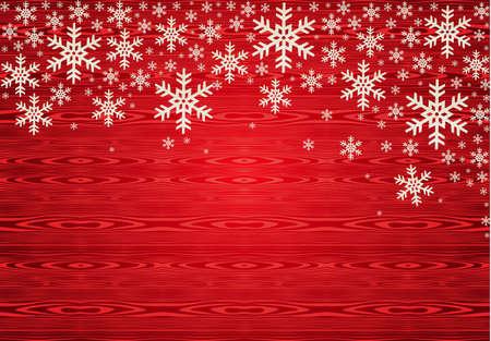 happy holidays: Rode Kerst sneeuwvlokken achtergrond. illustratie gelaagd voor gemakkelijke manipulatie en aangepaste kleuren.