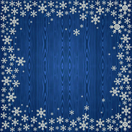 Blue Christmas snowflakes background.  illustration layered for easy manipulation and custom coloring. Stock Vector - 15579509