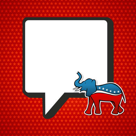 USA elections Republican politic message in sketch style over red stars background. file layered for easy manipulation and custom coloring. Stock Vector - 15579369