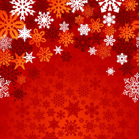 Red Christmas snowflakes background Stock Vector - 15868680
