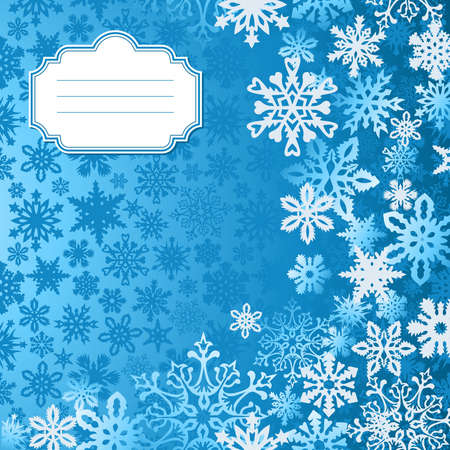 Blue Christmas snowflakes background greeting card Stock Vector - 15868677