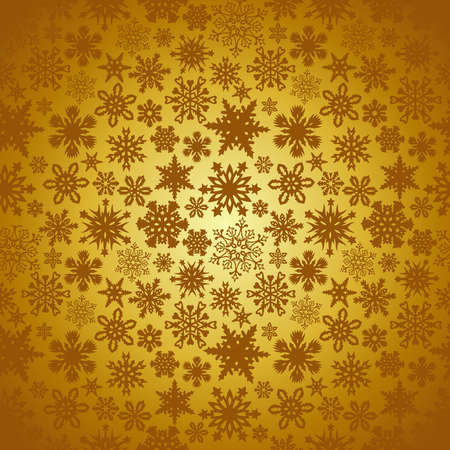 Golden Christmas snowflakes background Stock Vector - 15868675