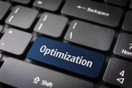 Blue key with Optimization word on laptop keyboard. Stock Photo - 15984563
