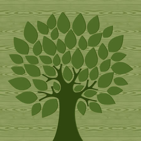 education help: Eco friendly tree over wooden pattern background. file layered for easy manipulation and custom coloring.