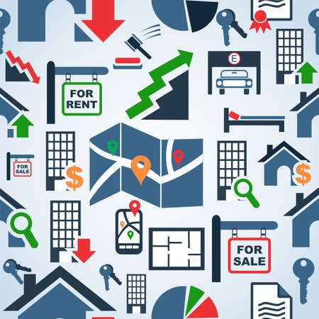 icone immobilier: V�ritable ic�ne de succession illustration seamless arri�re-plan. Fichier vectoriel couches pour une manipulation ais�e et la coloration personnalis�e.