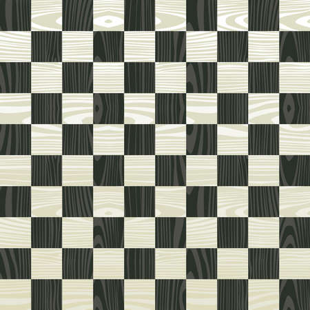Wooden chess board seamless pattern background. Vector illustration layered for easy manipulation and custom coloring. Vector