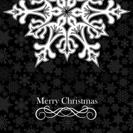 Weihnachten Schneeflocken Grusskarte über nahtlose Muster. Vektor-Illustration für eine einfache Handhabung und individuelle Färbung geschichtet.