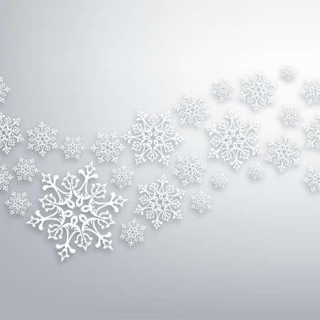 christmas template: Bianco Natale fiocchi di neve contemporanea seamless pattern.