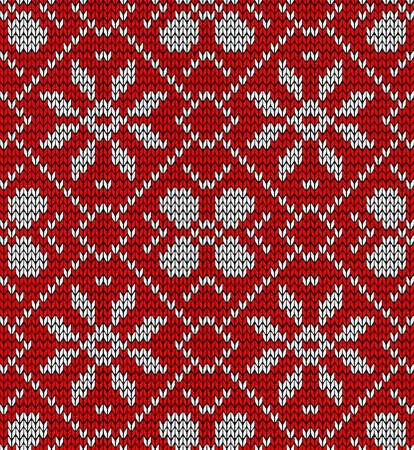 tejidos de punto: Vintage Navidad patr�n de bordado sin fisuras.