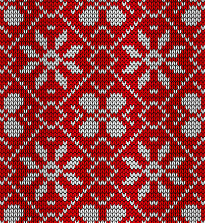 Vintage Xmas embroidery seamless pattern.  Vector