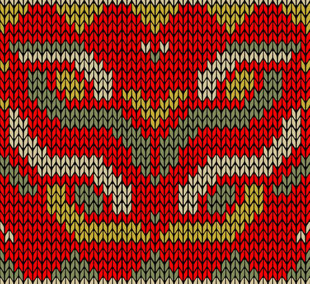 Vintage xmas embroidery guard seamless pattern  Jacquard design   Vector