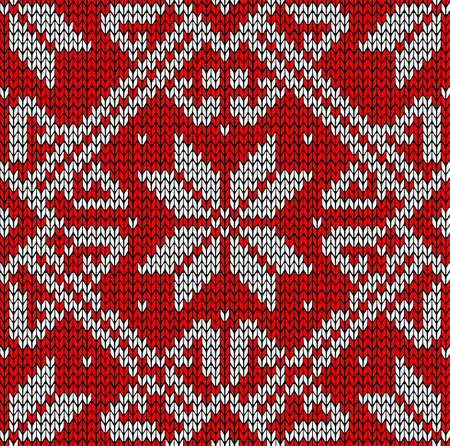 jacquard: Vintage hand craft Xmas embroidery seamless pattern  Vector illustration layered for easy manipulation and custom coloring