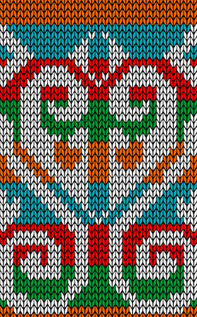 jacquard: Vintage xmas embroidery guard seamless pattern  Jacquard design  Vector illustration layered for easy manipulation and custom coloring  Illustration