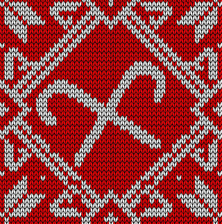 Vintage hand craft Xmas sweet embroidery seamless pattern. Vector illustration layered for easy manipulation and custom coloring. Vector
