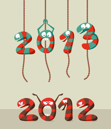 Happy New year 2013 greeting card background.  illustration layered for easy manipulation and custom coloring. Vector