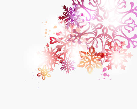 gift of hope: Contemporary Christmas snowflakes transparency background  with transparencies layered for easy manipulation and custom coloring