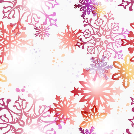 gift of hope: Contemporary Christmas snowflakes seamless pattern background  illustration with transparencies layered for easy manipulation and custom coloring  Illustration