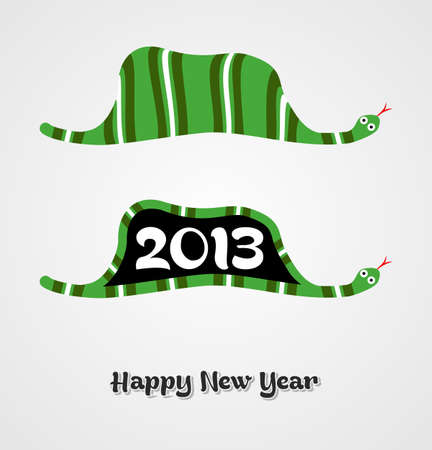 Vintage Happy New year 2013 concept number in snake shape  illustration layered for easy manipulation and custom coloring Stock Vector - 16808625