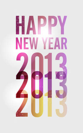 Contemporary happy New year 2013 colorful transparency poster  illustration, cleanly built grouped and ordered in layers for easy editing  Vector