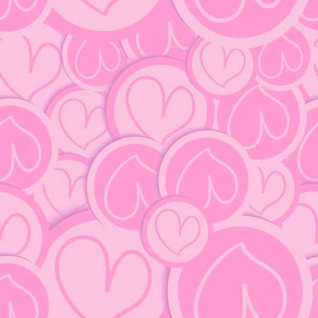 endlos: Valentine rosa Liebe Herzen nahtlose Muster Illustration für eine einfache Handhabung und individuelle Färbung geschichtet