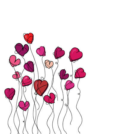 acirc: Valentine day spring flowers heart &Acirc,&iexcl,solated over white  illustration layered for easy manipulation and custom coloring