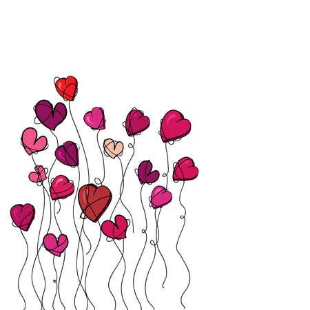 Valentinstag Lieben Mich Vogel Grußkarte Illustration Für Einfache ...