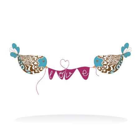 Vogelpaare Design Für Valentinstag Lizenzfrei Nutzbare ...