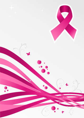 breast cancer: Breast cancer care modern background. file layered for easy manipulation and custom coloring.