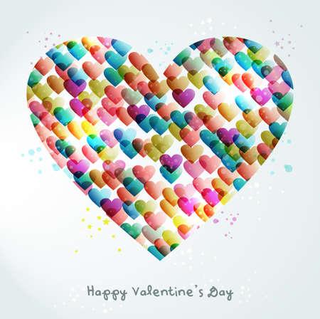 Valentijn dag transparante harten achtergrond. EPS10 illustratie met transparanten gelaagd voor eenvoudige manipulatie en aangepaste kleuren.