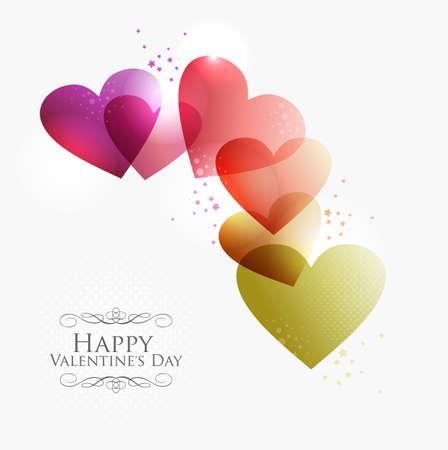 Valentine day transparante harten achtergrond. illustratie met transparanten gelaagd voor gemakkelijke manipulatie en aangepaste kleuren. Stock Illustratie