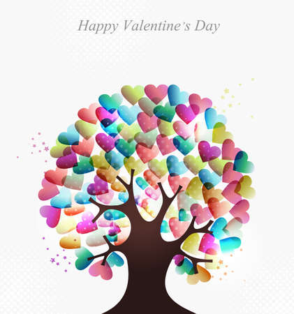 Love transparent hearts concept tree for Valentines day. EPS10 illustration with transparencies layered for easy manipulation and custom coloring. Stock Vector - 17878167