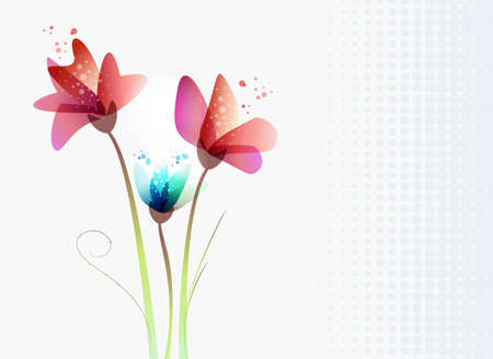 Spring time contemporary transparency flowers. EPS10 file version. This illustration contains transparencies and is layered for easy manipulation and custom coloring Stock Vector - 17878325