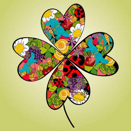 arte moderno: Elementos de la flor del resorte vibrante. Archivo vectorial en capas para una f�cil manipulaci�n y coloraci�n personalizada.