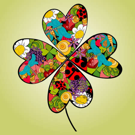 Spring elements vibrant flower. Vector file layered for easy manipulation and custom coloring.