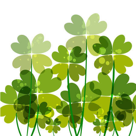 Contemporary transparent clovers isolated. EPS10 file version. This illustration contains transparencies and is layered for easy manipulation and customization. Stock Vector - 17878421