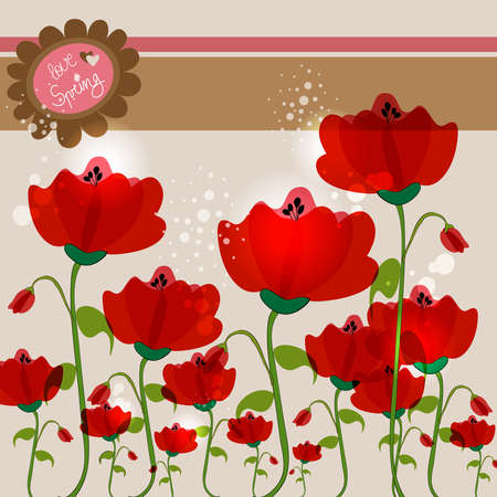 Spring love background with contemporary transparent flowers. EPS10 file version. This illustration contains transparencies and is layered for easy manipulation and customization. Stock Vector - 17878415